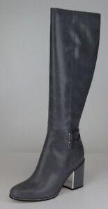 Calvin Klein Womens Grey Camie Siriana Riding Boots Shoes Sz 11 Ret $299  New