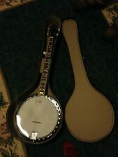 Hondo five string resonator blue grassbanjo with hard case
