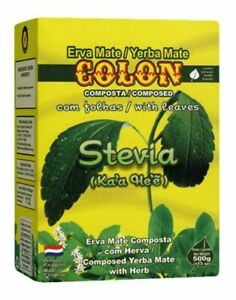 Yerba Mate Tee aus Paraguay - Colon mit Stevia - 500g