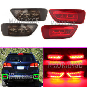 2X LED Rear Bumper Fog Light Tail Brake Lamp For Jeep Grand Cherokee WK2 Compass
