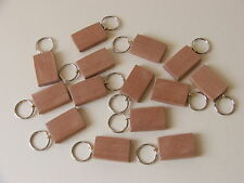 KEYRING BLANKS-MAHOGANY-pyrography,painting or engraving-12 in pack £4.45+car