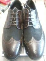 Robert Wayne Kaden Men  Wingtip Toe Leather Dark Brown Oxford Size 9D