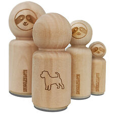 Rough Coated Jack Russell Terrier Parson Dog Outline Rubber Stamp for Stamping
