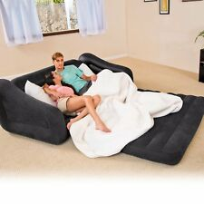 Intex Queen Inflatable Pull-Out Sofa Couch Bed Folding Sleeper Lounger Mattress