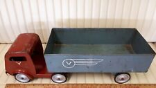"V LINE Pressed Tin ""Tractor Trailer"" - Good Condition - Made in Canada"