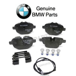 For BMW F25 F26 X3 X4 Set of Rear Disc Brake Pads & Sensor Genuine
