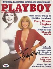 TERRY MOORE SIGNED PLAYBOY PSA DNA