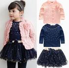 3 Pcs Girls Baby Kids Children Top Coat+T-shirt+Skirt Tutu Clothing Outfits Set