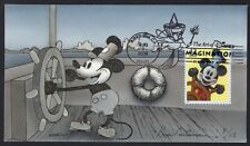 Peterman Hand Painted Art of Disney Imagination Mickey Sc.#4343 First Day Cover