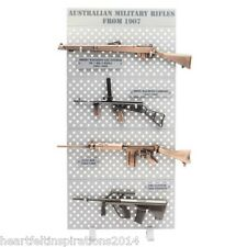 Australian Military Rifle Set 1907 Series Complete With Display Rack 1/6 Scale