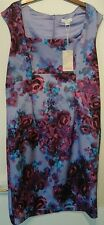 Monsoon Purple Floral CLARISSA Galaxy SCUBA Stretch Shift Dress uk 18 bnwt