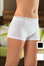 3/12 Stück Damen Slips Panty mit Spitze Pants Schwarz Weiß Baumwolle S M L XL