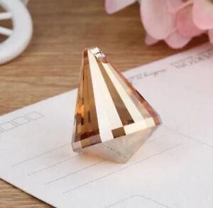 5pcs Gold champagne Crystal Chandelier Lamp Lighting Part Pendant Prisms Hanging
