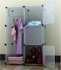 "EBS 43"" Portable Deep Modular Storage Cabinet Wardrobe Clothes Closet Organiser"