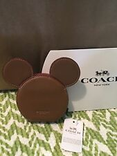 Coach X Disney Tan Mickey Mouse Coin Purse NWT F59071