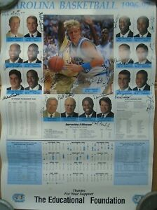 UNC Tarheels Calendar Poster Antwan Jamison Vince Carter Signed 1996-1997