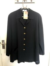 Givenchy Black Light Weight Blazer With gold  buttons Size 44 100% Wool (LOU)