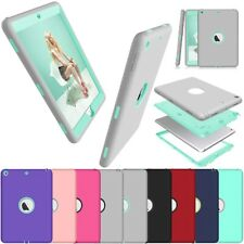 Hybrid Rubber Bumper Plastic Shockproof Case Cover For iPad 5th / 6th Air 1 2