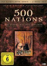 2 DVDs * 500 Nations - Die Geschichte der Indianer - Die komplette Serie * NEU