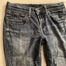 Lucky Brand Classic Rider Boot Cut Jeans Womens 4 27 Med Wash Distressed Stretch