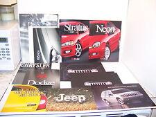 2002 DODGE TRUCKS NEON STRATUS CHRYSLER PROWLER 300M JEEP SALES BROCHURES (9)