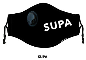 SUPALABS Hero Face Mask Premium Covering 5 layers of protection + valve - LOGO
