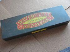 Vintage WATERVLIET Reamers Set In Metal Box Set 3 SC Reamers 25/32, 27/32, 29/32