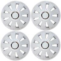 "Set of 4 White Wheel Trims / Hub Caps 15"" Covers fits Ford Fiesta Focus KA"