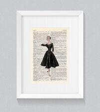 Abito da sera elegante abito da ballo corto vintage DIZIONARIO LIBRO Stampa Wall Art