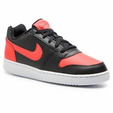 NIKE EBERNON LOW Men's Black and Red Sneakers AQ1775-004