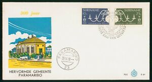Mayfairstamps Suriname FDC 1968 Candles Chandelier Building First Day Cover wwo_