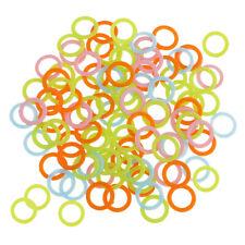 100pcs Plastic DIY Crochet Ring Hook Ring Markers for Handbag Car Seat 15mm