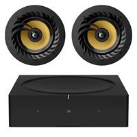 """Sonos Amp + Pair of Lithe Audio 6.5"""" Ceiling Speakers   Home Speaker Bundle"""