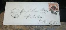 1866  PARIS,C.W. TO PETROLIA C.W. COVER (Canada West) FANCY CANCEL on Stamp