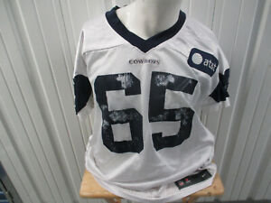 VINTAGE NIKE AUTHENTIC DALLAS COWBOYS Ronald Leary #65 SIZE 60 PRACTICE JERSEY