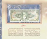 Most Treasured Banknotes Brazil 1962 10 Cruzeiros UNC P-177a serie 2500A