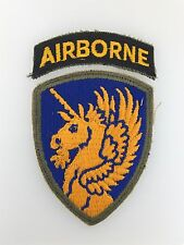 GENUINE WWII U.S. Army 13th Airborne Division cloth sleeve patch with Airborne