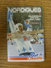 1981/1982 Fixture Card: Ice Hockey - Nordiques Quebec (fold out style). Any faul