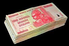 25 pcs x Zimbabwe 100 Million Dollar banknotes-1/4 currency bundle