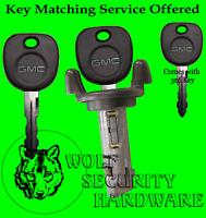 GMC OEM Ignition Key Switch Lock Cylinder Tumbler Barrel 3 GMC Logo Key