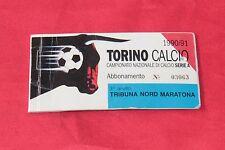 biglietto Calcio - TORINO CALCIO ABBONAMENTO STADIO 1990