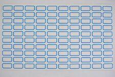 500 étiquettes autocollantes 16.5 x 28 mm Multi-usages / 5 Feuilles bleu Neuf