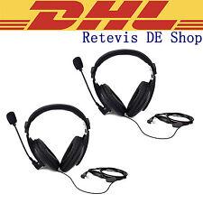 2PCS Headphone for funkgeräte RETEVIS/KENWOOD/BAOFENG/TYT/WOUXUN/PUXING DE