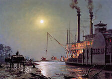 John Stobart Print - Night Call at Bayou Sara