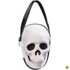 Damen Handtasche Totenkopf schwarz-weiß Kostüm-Zubehör Halloween Karneval