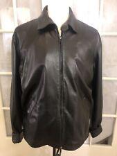Ralph Lauren Purple Label Men's Size Large Black Super Soft 100% Lambskin Jacket
