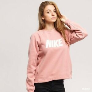 Nike Pink Pullover Sweatshirt Crew Neck Women M
