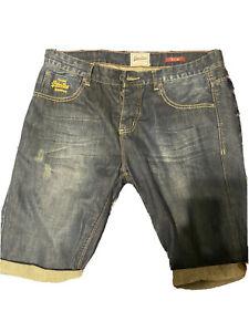 Mens Superdry Officer Slim Denim Shorts - W32