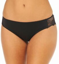 MAIDENFORM Comfort Devotion Lace Back Black Mid Rise Tanga Size 7/Large