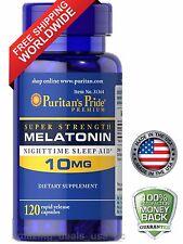 Puritan's Pride Melatonin 10 mg Night Time Sleep Aid 120 Capsules  Free Shipping